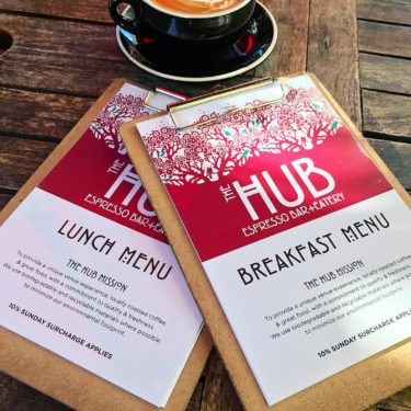 New Winter 2018 Menu | The Hub Cafe, Bathurst