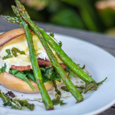 Pork, Asparagus Cheese Burger | The Hub Cafe, Bathurst