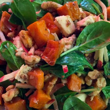 Pumpkin, Spinach, Mozzarella Salad | The Hub Cafe, Bathurst